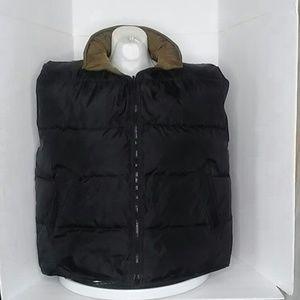 Wrangler Hero Black Brown Down Feather Vest 2X